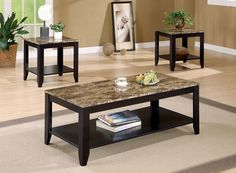 Ivan Coffee Table w/ 2 End Tables – Katy Furniture