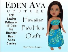 Eden Ava Couture Pa'u Hula Outfit Sewing Pattern by EdenAvaCouture, $3.99 sew pattern, sewing patterns