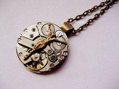Steampunk Time Jesus Necklace by KoollooK on Etsy, $44.90