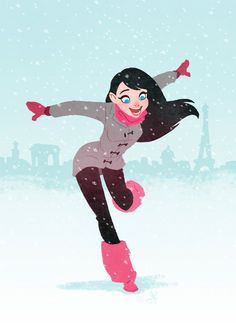 Snow Girl by ~XAV-Drawordie on deviantART
