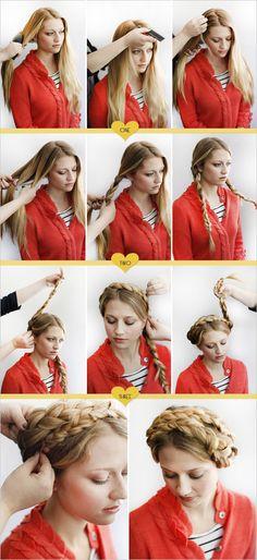 milk maid braids