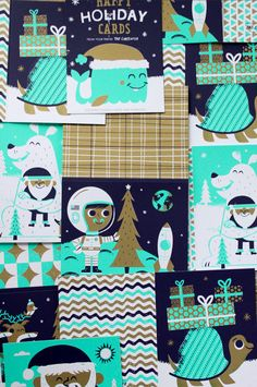 holiday illustrations + patterns by tad carpenter