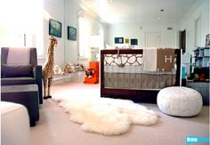 Rachel Zoe's nursery... I love the mod safari theme (similar to Ben's room)