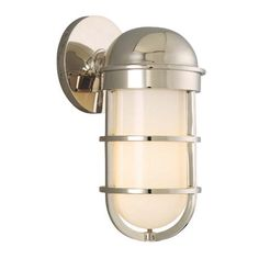 """Guest Bath- Groton Polished Nickel 10 1/2"""" High Wall Sconce"""