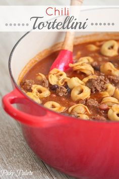 Chili Tortellini.  Perfect weeknight dinner.  Quick and easy.
