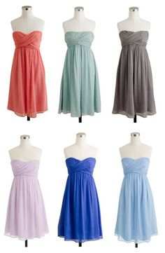 Beautiful bridesmaid dresses   j.crew