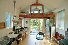 Garage Conversions | Garage to Living Space | HouseLogic Remodel Ideas. Like no. 11. Really wud love a stove.