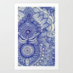 blue Art Print by Yes Menu - $14.56