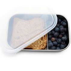 Stainless+Steel+Food+Container+with+Divider