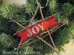 Brimful Curiosities: Apple Tree Christmas by Trinka Hakes Noble - Star Twig Ornament Craft