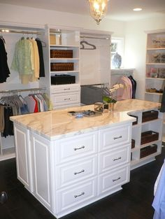 I'd love a center island in my closet!!  Master Closet traditional closet