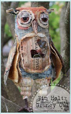Tammy Tutterow   Tim Holtz Ecelectic Elements Grungy Owl