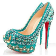Christian Louboutin Bollywoody 150mm Pumps Turquoise Outlet