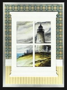 View of Lighthouse by BarbieP - Cards and Paper Crafts at Splitcoaststampers