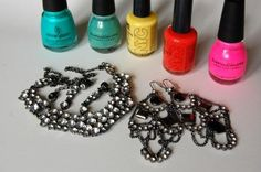 DIY: NailPolish + old Jewelry =) Save $$$