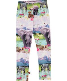 Molo Funky Leggings with Beach Safari Print #emilea