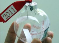 Easy #craft #tutorial: How to make a time capsule #ornament with your kids for #Christmas