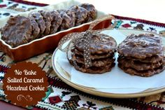 Mommy's Kitchen - Old Fashioned & Southern Style Cooking: No Bake Salted Caramel Hazelnut Cookies {A New Addiction}