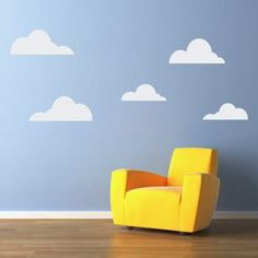 graphic cloud wall