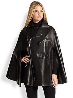 Ralph Lauren Black Label Leather Dean Cape