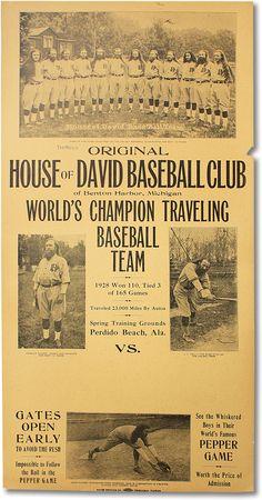 Image detail for -... Baseball Team | UTOPIAN COMMUNITIES - HOUSE OF DAVID, BASEBALL | Lorne