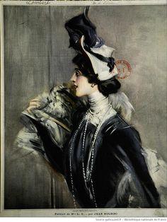 Portrait of Mlle L C by Jean Boldini (Giovanni Boldini?)