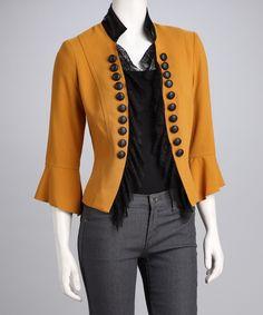 Gold Buttons & Lace Jacket by I-N-S-I-G-H-T New York