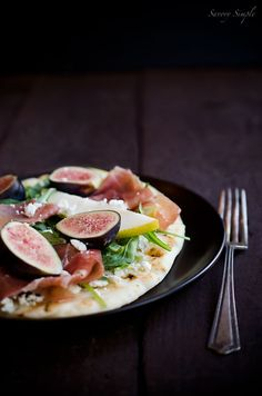 This Fig, Pear and Prosciutto Tartine is a perfectly simple, seasonal open-faced sandwich.