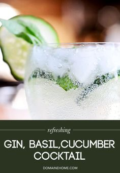 Refreshing Gin, Basil, and Cucumber Cocktail