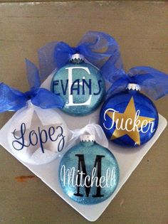 cute personalized ornaments