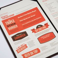 Logo and food menu designed by St Bernadine for local drinking and dining spot Delta Lion Pub