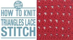 Crochet Tutorial: How to Crochet the Triangles Lace Stitch. Click link to learn this stitch:  http://newstitchaday.com/how-to-crochet-the-triangles-lace-stitch/  ‎#yarn #crocheting