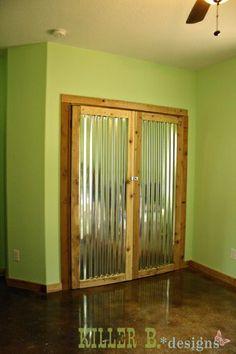 Corrugated Tin Closet Doors