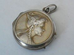 Antique French Silver 800-900 Locket found on Ruby Lane