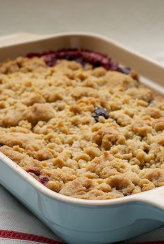 Mixed Berry Cobbler - Made this last night and it tasted AMAZING! Add oats to the crust for an extra crunch