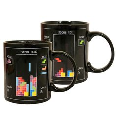 Tetris Heat Change Mug Set Of 2