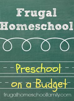 Frugal Ways to Homeschool Preschoolers - Frugal Homeschool Family