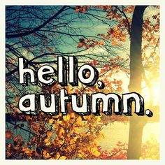 Hello Autumn, my old friend. I'm so happy to see you!