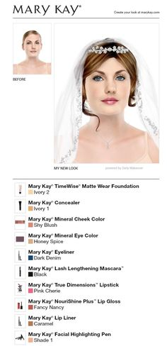 Mary Kay makeup for a wedding...As a Mary Kay beauty consultant I can help you, please let me know what you would like or need. www.marykay.com/KathleenJohnson  www.facebook.com/KathysDaySpa