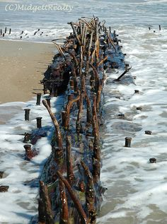 Hatteras Village ship wreck exposed.  Love this ship wreck!