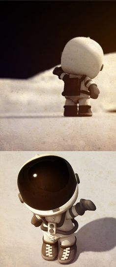 3D characters by David Correa, via Behance