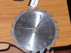 #diy saw clock For the garage?