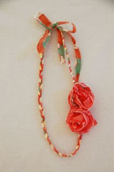 two for me please- braided fabric necklace