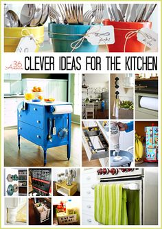 16 Clever Ideas for the Kitchen… Awesome organization tips! #organization #kitchen