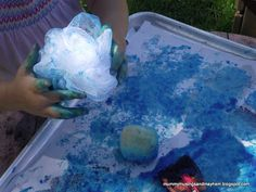Painting with different sponges and textures...easy to make and do!