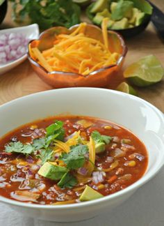 Skinny Taco Soup Recipe in under 30 minutes! www.mountainmamacooks.com
