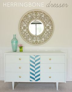 DIY thrift store dresser makeover!