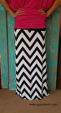 Dynamic Impact Chevron Maxi Skirt - Plus Size $27
