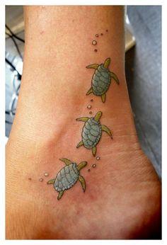 Sea turtle tattoo.