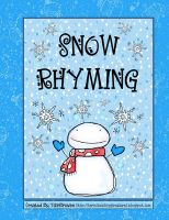 Free Snow Rhyming Activities